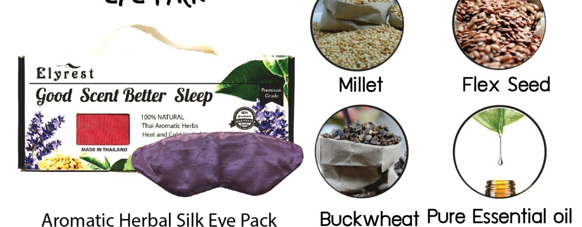 aroma silk eye pack herbal ingredient and pure essential oil